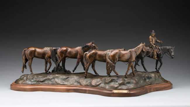 """Headin' Home"" by Linda Egle 16 1/2""H x 45""L x 19 1/2""W 